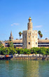 Torre del Oro and Giralda, Seville, Spain