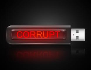 Corrupt concept.