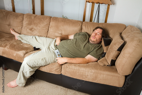 Man asleep on the couch
