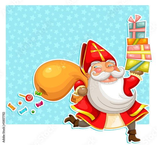 sinterklaas carrying presents
