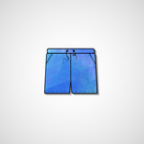 Abstract illustration on shorts, template editable.