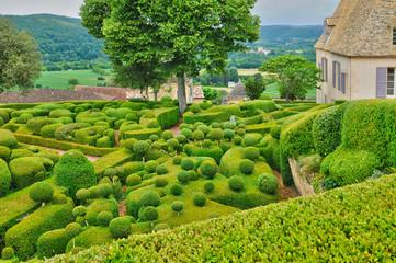 France, picturesque garden of Marqueyssac  in Dordogne