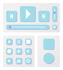 Music player and elements vector