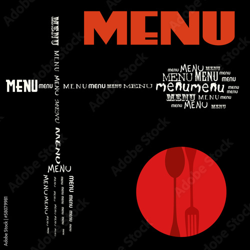restaurant menu design,freecopy space, vector