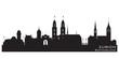 Zurich Switzerland city skyline vector silhouette