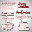 "Hand Drawn Lettering ""Merry Christmas"" Set - Isolated"