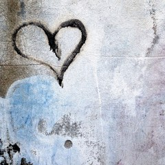 heart painted on a wall
