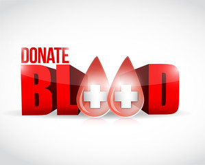 donate blood illustration design