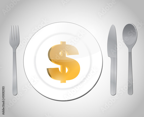 expensive diner illustration design
