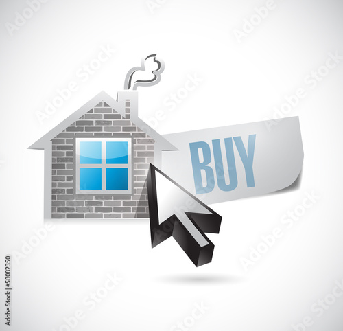 house and buy message illustration design