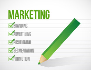 marketing check mark illustration