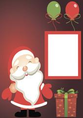 Holiday card - Santa Claus with gifts