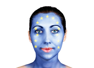 Face as the European Union flag