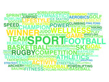 Kinds of sport. Word cloud concept