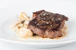 beef steak with mushrooms