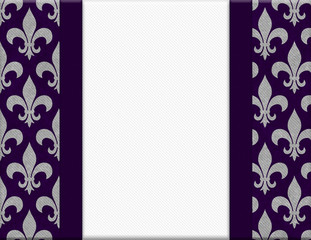 Purple and Gray Fleur De Lis Textured Background