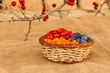 Healthy berries in rustic environment