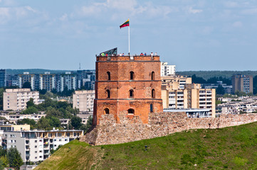 Tower of Gediminas Castle in Vilnius, Lithuania.