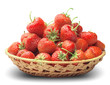 strawberry in a basket-dish