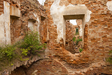 fortress ruins. Golshany, Belarus