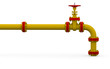 Yellow pipe and valve