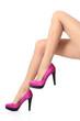 Beautiful woman legs wearing a high stiletto heels