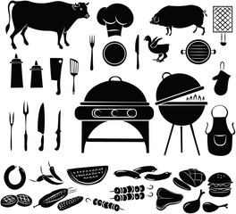 vector illustration of  Barbecue elements