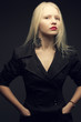 Portrait of beautiful fashionable model with natural blond hair