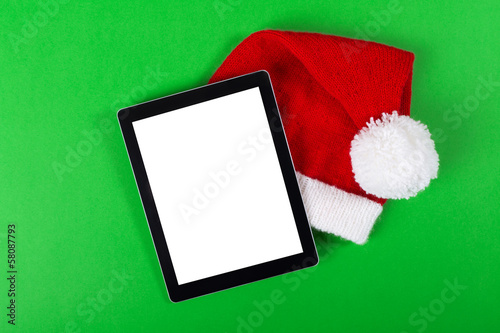 Tablet computer Christmas concept