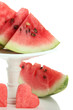 Fresh watermelon isolated on white