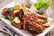 braised lamb knuckle greek style