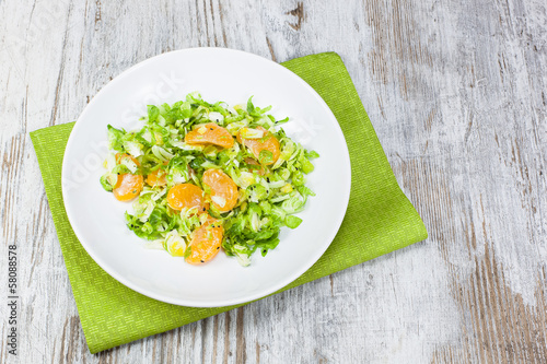 Shredded Brussels Sprout and Tangerine Salad
