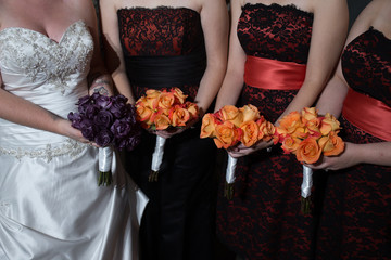 halloween orange wedding bouquet
