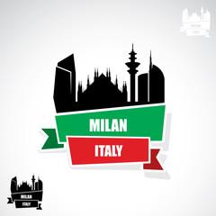 Milan ribbon banner