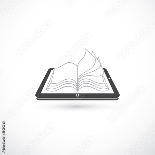 Reading book from tablet pc