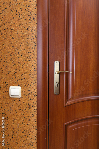 Wooden door, close up