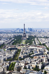 Aerial view of Paris, France from Montparnasse