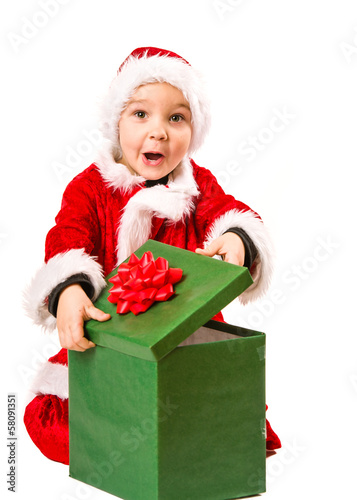 Boy and Christmas gift