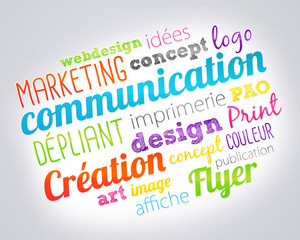 nuage de mots : communication marketing publicité