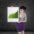 Business woman with growth graph