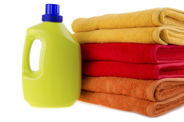 Detergent and towels