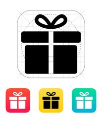 Big gift box icons on white background.