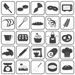 Basic Bakery Icons Vector Set