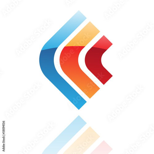 Colorful Glossy Retro Abstract Icon