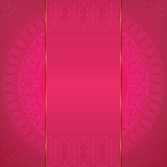 Luxury pink card with an elegant pattern.