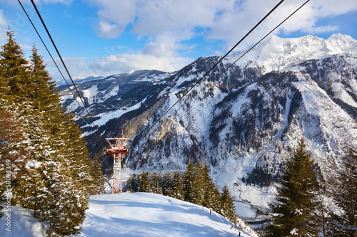 Mountains ski resort Kaprun Austria