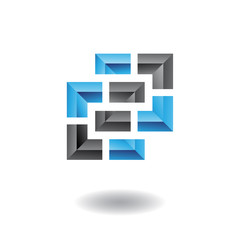 Rectangular and Square Abstract Icon
