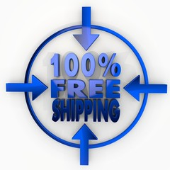 100 percent freeshipping label in focus point