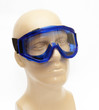 plastic mannequin wearing protective mask