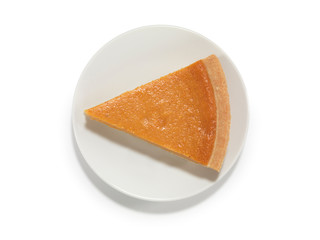 Piece of Pumpkin Pie on a Saucer